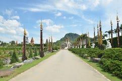 Nongnuch garden. Beautiful Nongnuch tropical  garden in Pattaya, Thailand Royalty Free Stock Images