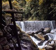 Waterfall in northeast India stock image