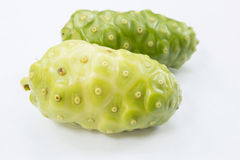 Noni Fruits. On White Background,Famous Herb In Thailand Royalty Free Stock Images