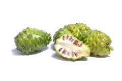 Noni fruits on white Royalty Free Stock Image