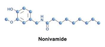 Nonivamide pelargonic syrlig vanillylamide Arkivfoton