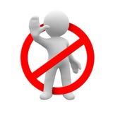 Nonlo faccia! Fotografie Stock Libere da Diritti
