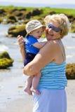 Nonna con il nipote Fotografia Stock