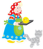 Nonna con Roly-Poli cotto royalty illustrazione gratis