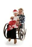 Nonna con un nipote nello studio Fotografia Stock Libera da Diritti