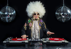 Nonna del DJ fotografia stock