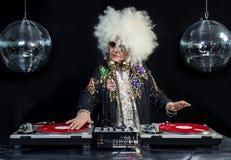 Nonna del DJ Immagine Stock