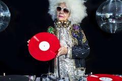 Nonna del DJ Fotografia Stock Libera da Diritti