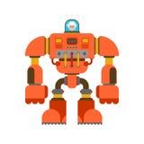 Nonna dell'esoscheletro del robot Futuro del guerriero del cyborg della nonna La VE royalty illustrazione gratis