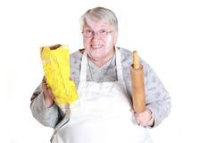 Nonna di cottura Fotografia Stock