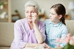 Nonna di visita immagine stock