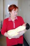 Nonna e la sua nipote Immagini Stock