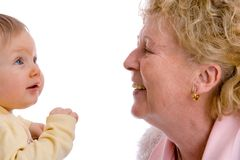 Nonna e me Fotografie Stock Libere da Diritti