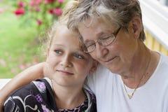 Nonna e nipote Fotografie Stock Libere da Diritti