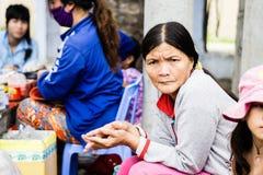 Nonna e nipote a Duong Lam Ancient Village Fotografie Stock