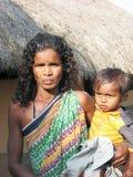 Nonna e nipote tribali indiani Fotografie Stock