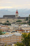 Nonnberg Abbey Bell Tower Salzburg Áustria fotos de stock royalty free
