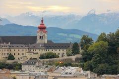 Nonnberg Abbey Bell Tower Salzburg austria Fotos de archivo libres de regalías