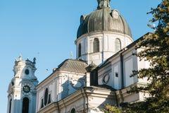 Nonnberg abbotskloster i Salzburg i Österrike En av dragningarna av staden och ett favorit- ställe för att besöka turister fotografering för bildbyråer