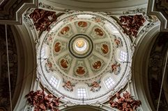 Nonnberg opactwo Benedykty?ski monaster w Salzburg obraz stock