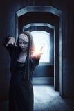 Nonne effrayante de diable photographie stock