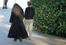 Nonne et ami Photo stock