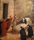 Nonne mourante de peinture de couvent d'église de Santa illustration stock