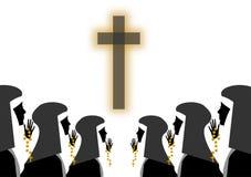 Nonnen stock illustratie
