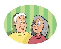 Nonni illustrazione vettoriale