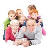 Nonni con i nipoti Fotografie Stock Libere da Diritti