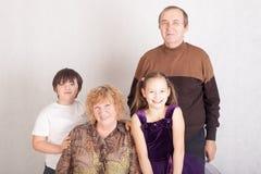 Nonni con i nipoti Immagine Stock