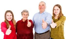 Nonni e nipoti felici Immagine Stock Libera da Diritti