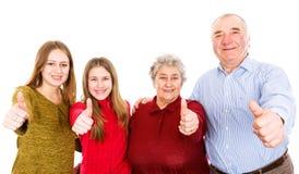 Nonni e nipoti felici Fotografia Stock Libera da Diritti