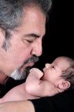 Nonno con il nipote Fotografia Stock