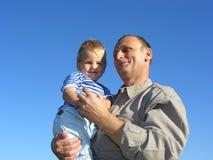 Nonno con il nipote Immagini Stock