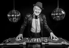 Nonno del DJ Immagine Stock
