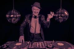 Nonno del DJ Immagine Stock Libera da Diritti