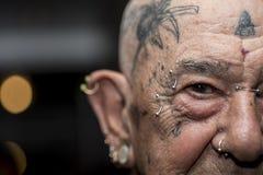 Nonno del tatuaggio Fotografia Stock