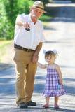 Nonno e nipote Fotografia Stock Libera da Diritti