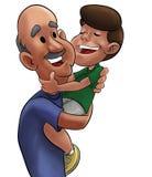 Nonno e ragazzo illustrazione vettoriale