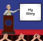Nonno la mia illustrazione di storia Immagine Stock Libera da Diritti