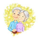 Nonno nell'amore Fotografia Stock