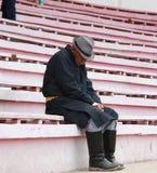 Nonno stanco Fotografia Stock
