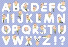 Nonno verde A - Z della maglia royalty illustrazione gratis