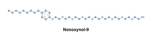 Nonoxynol-9, или N-9 Стоковое фото RF