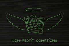 Nonprofit organization enrollment or fundraising forms with ange Stock Image