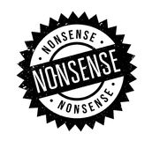 Nonsense rubber stamp. Grunge design with dust scratches. Effects can be easily removed for a clean, crisp look. Color is easily changed Royalty Free Stock Photography