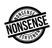 Nonsense rubber stamp. Grunge design with dust scratches. Effects can be easily removed for a clean, crisp look. Color is easily changed Stock Images