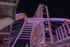 Nonsi Chong Sathon skywalk Στοκ Εικόνες