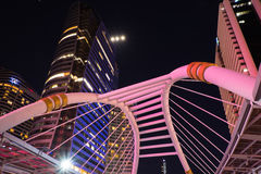 Nonsi Chong Sathon skywalk Στοκ φωτογραφία με δικαίωμα ελεύθερης χρήσης